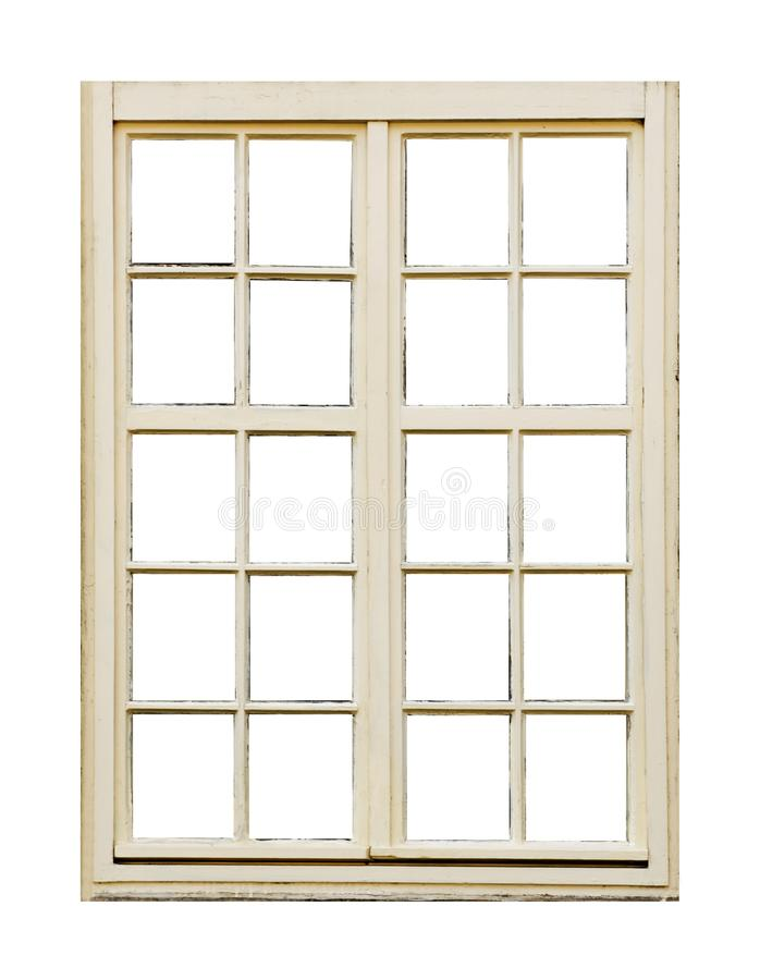 Old wooden window with twenty pane royalty free stock images