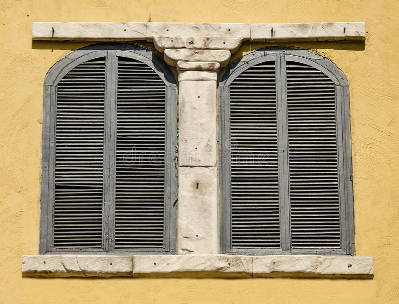 Old wooden window royalty free stock photography