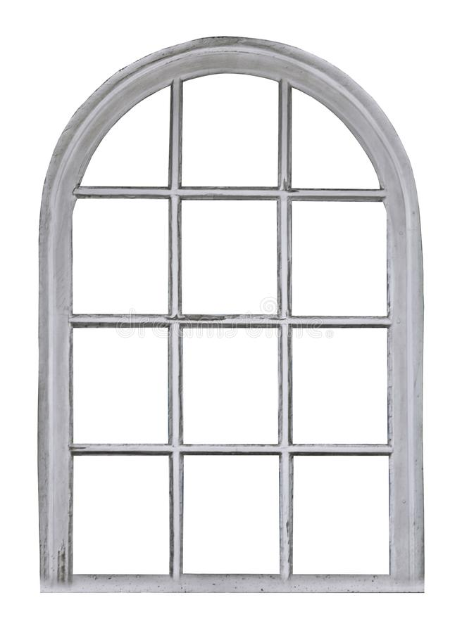 Free Old Wooden Window With Arch Stock Photos - 109049333