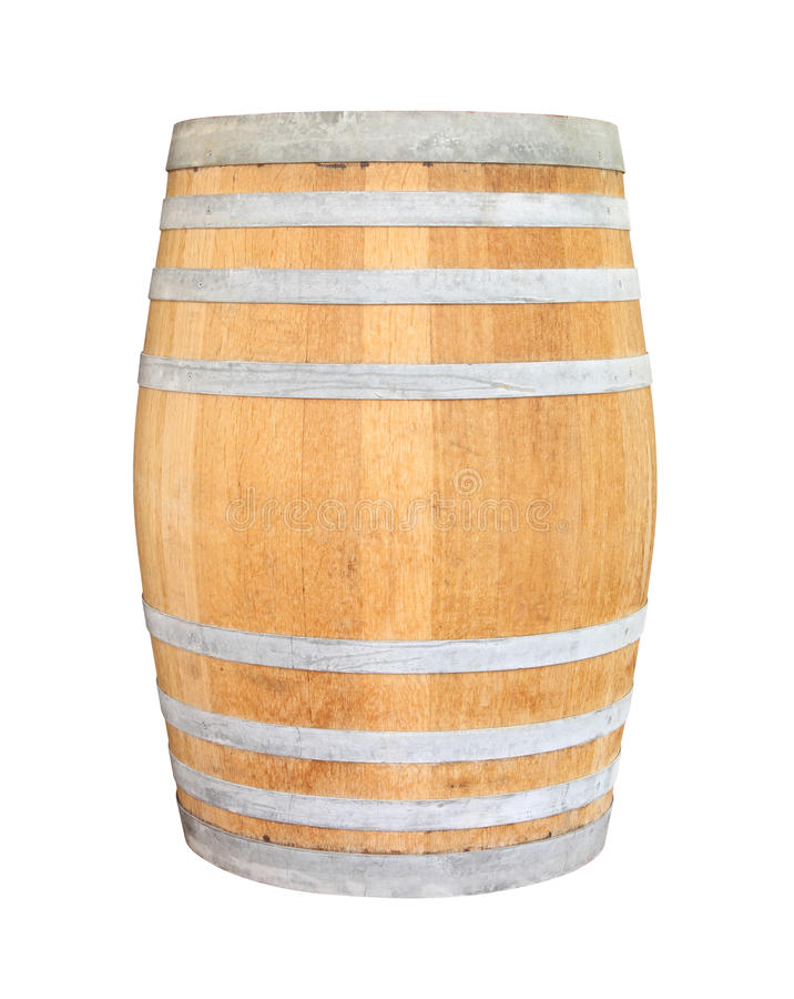 Free Old Wooden Wine Barrel Iron Ring Stock Photography - 33590302