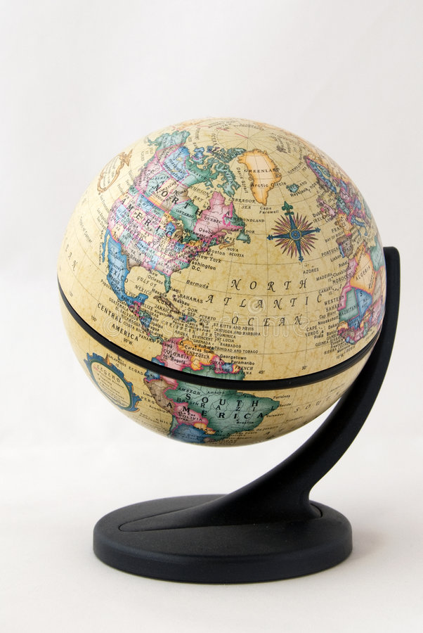 Old word globe royalty free stock photography