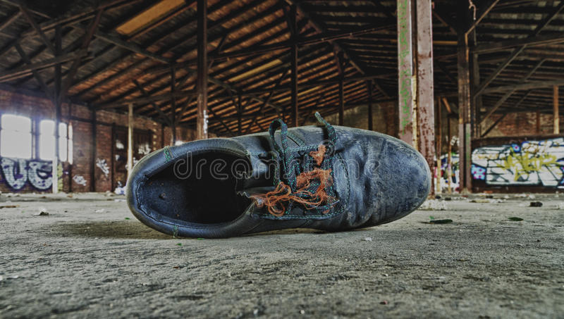 Old work shoe