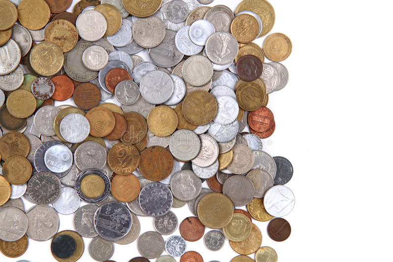 old world coins texture royalty free stock photos