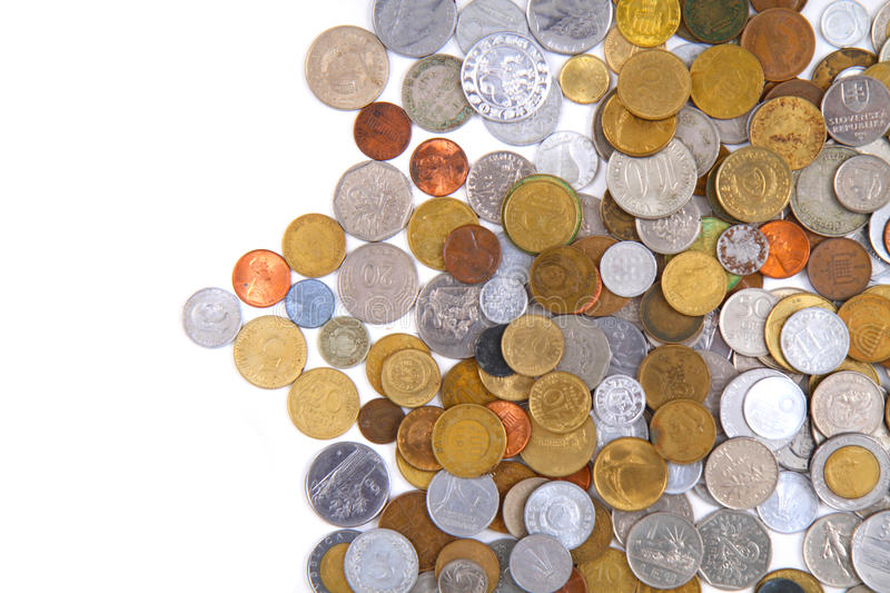 old world coins texture royalty free stock images