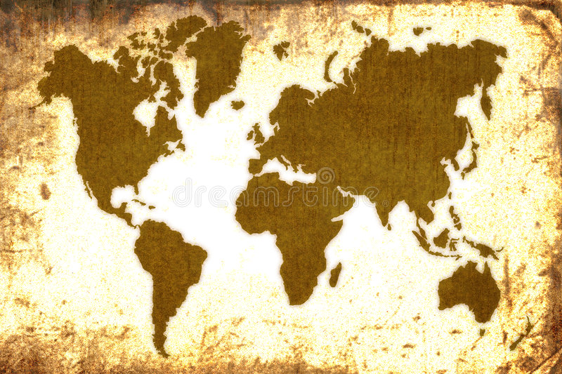 Old World map royalty free illustration