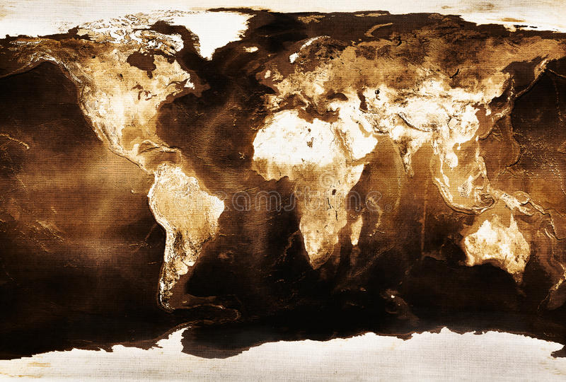 Download Old world map stock illustration. Image of wallpaper - 14562228