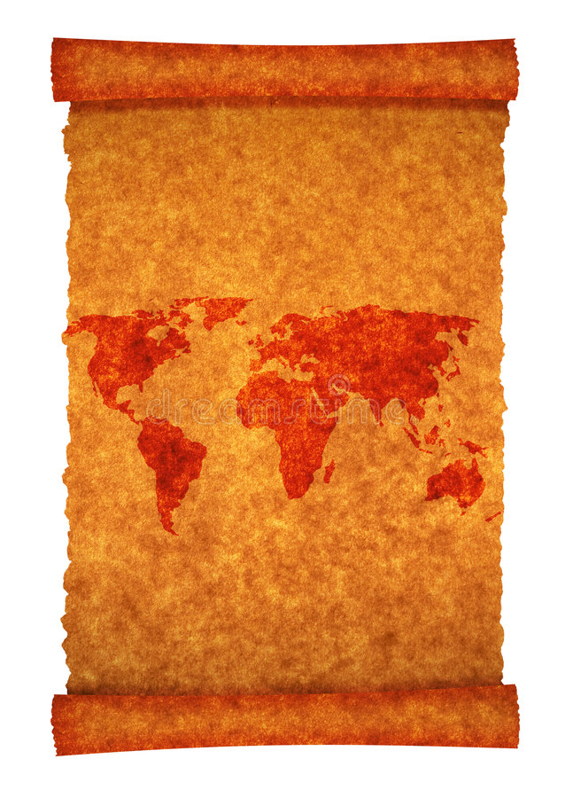 Old world map royalty free stock images