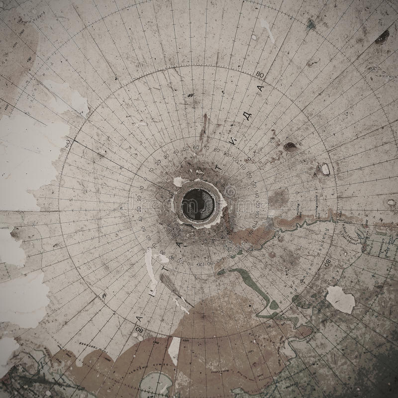 Old world map, south pole abstract stock photography