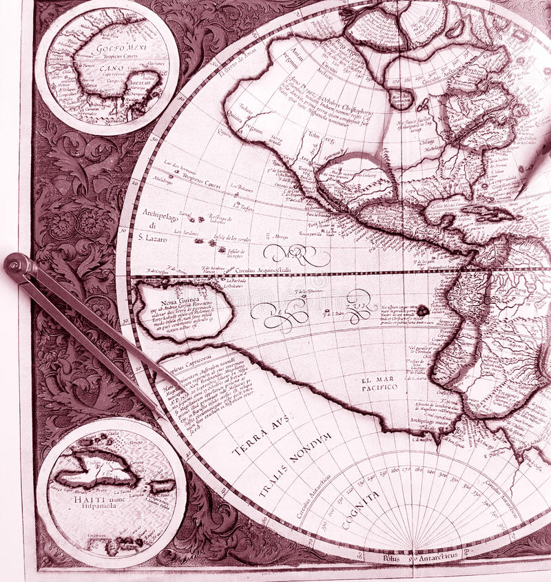 Download Old World Map, Western Hemisphere Stock Photo - Image: 13414816
