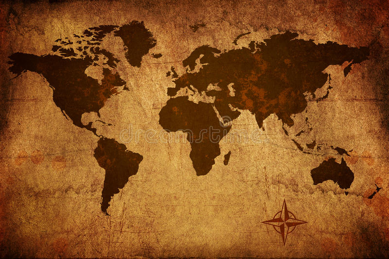 Old World Map stock photos