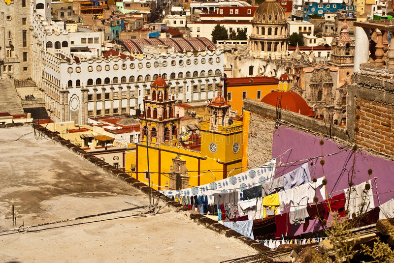 Old World Ways in Guanajuato Mexico stock photography