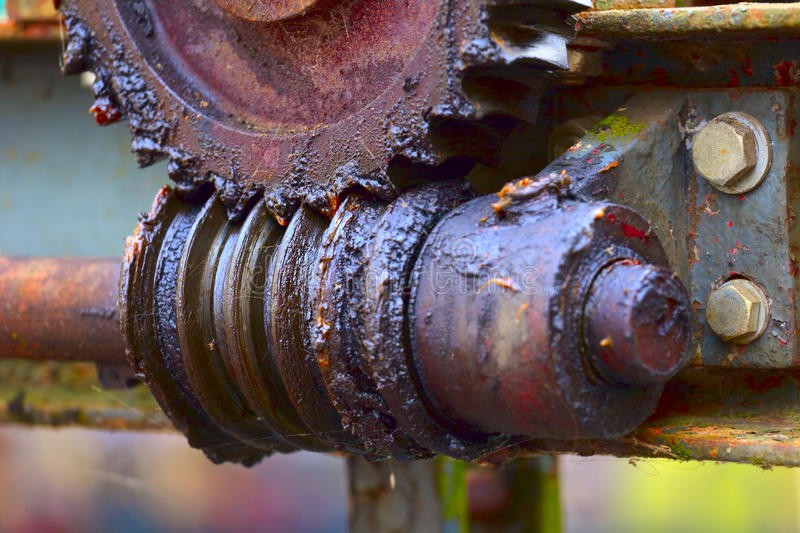 Old worm gear stock photography
