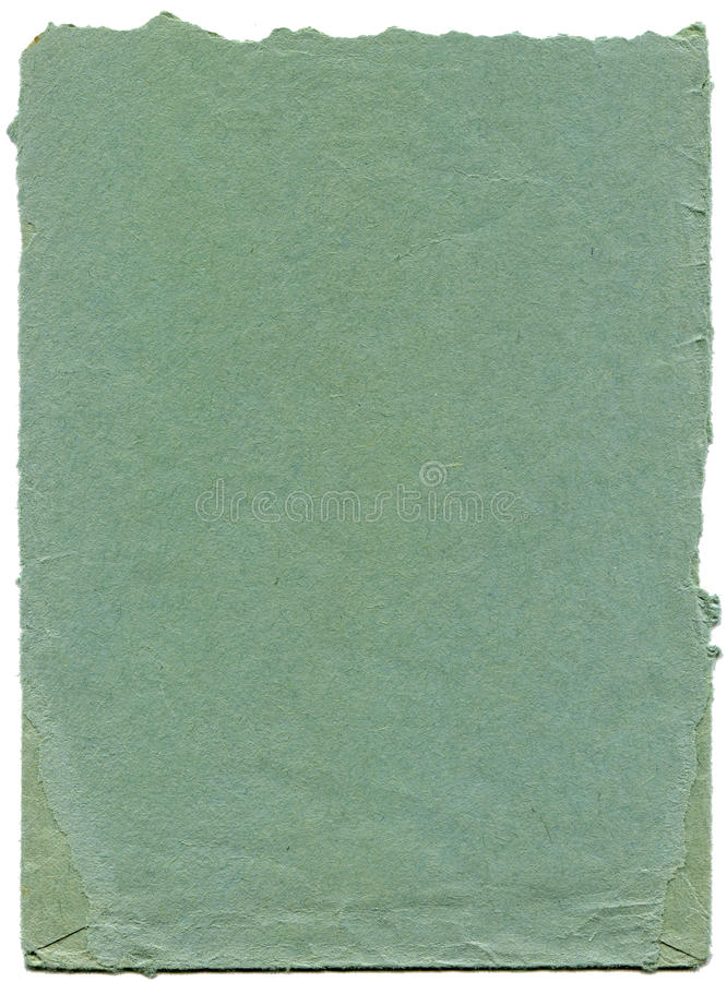 Old and worn blue paper royalty free stock photography