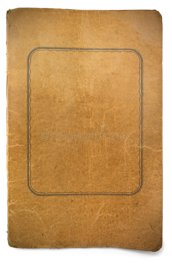 Old worn book cover stock photography
