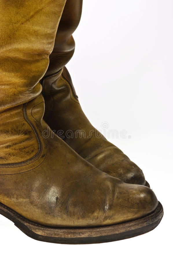 Old Worn Cowboy Style Boots Royalty Free Stock Images