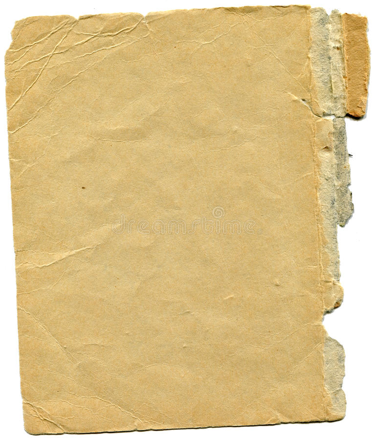 Old and worn paper stock photography