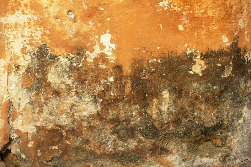 Old and worn plastered walls stock photo