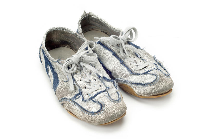 Old Worn Trainers Royalty Free Stock Photography