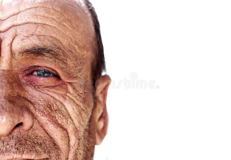 Old wrinkled man royalty free stock image