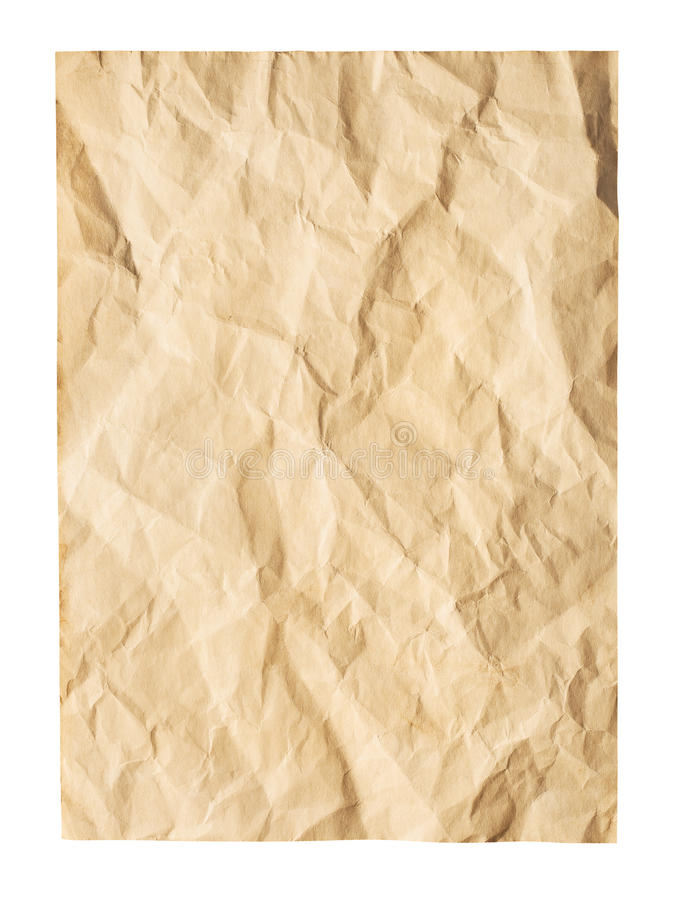 Old wrinkled paper stock image. Image of retro, antique - 41952525