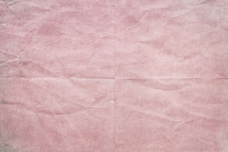 Old wrinkled pink paper texture royalty free stock images