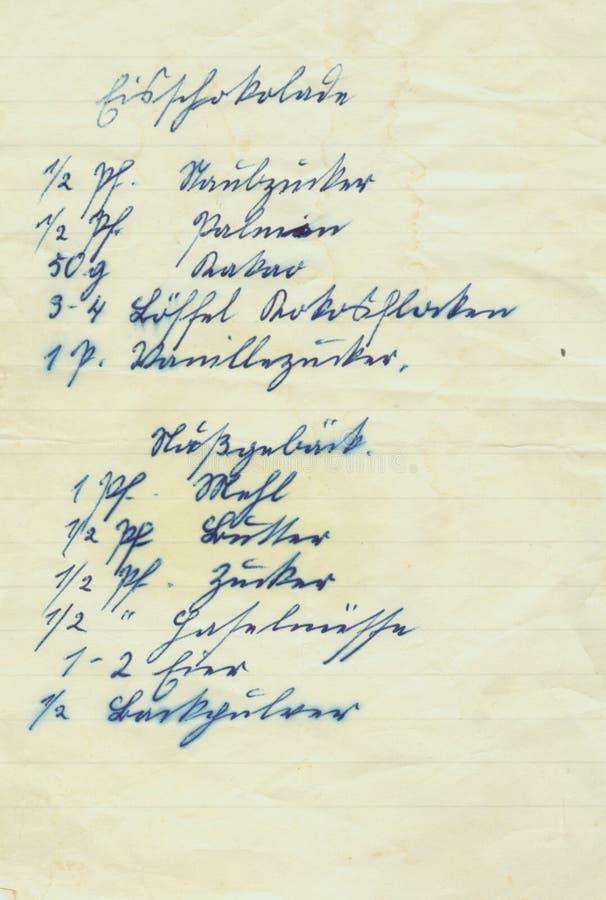 Old writing stock photos