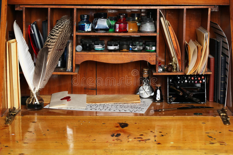 Download Old Writing Desk Royalty Free Stock Images - Image: 15088149