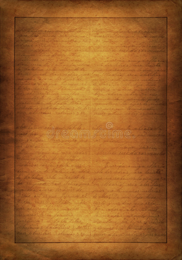 Free Old Writing On Paper Royalty Free Stock Photo - 8805215