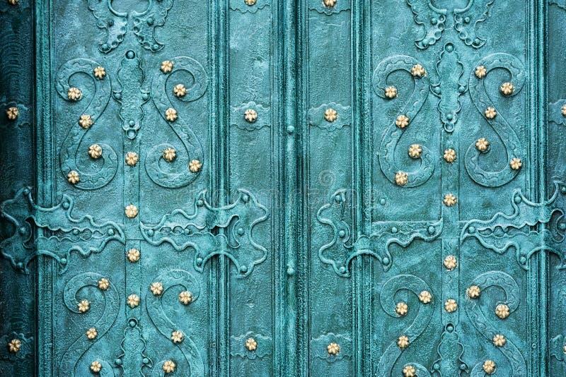 Old wrought-iron gates. stock photo