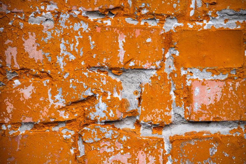 Old yellow brick wall background texture abstract. Old yellow orange brick wall background texture abstract royalty free stock image