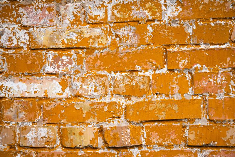 Old yellow brick wall background texture abstract. Old yellow orange brick wall background texture abstract stock images