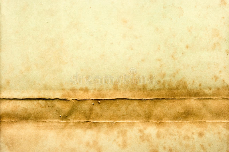 Download Old Yellow Paper With Stain On The Bottom Stock Image - Image: 22420953