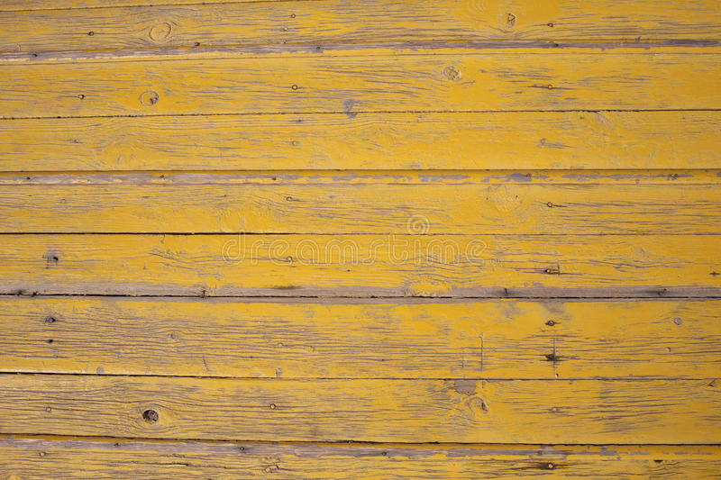 Old yellow wood plank wall texture background royalty free stock image