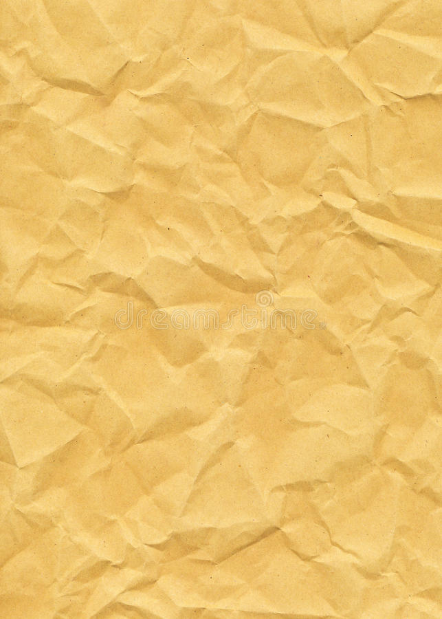 Download Old Yellowed Crinkled Paper Stock Image - Image: 28678025