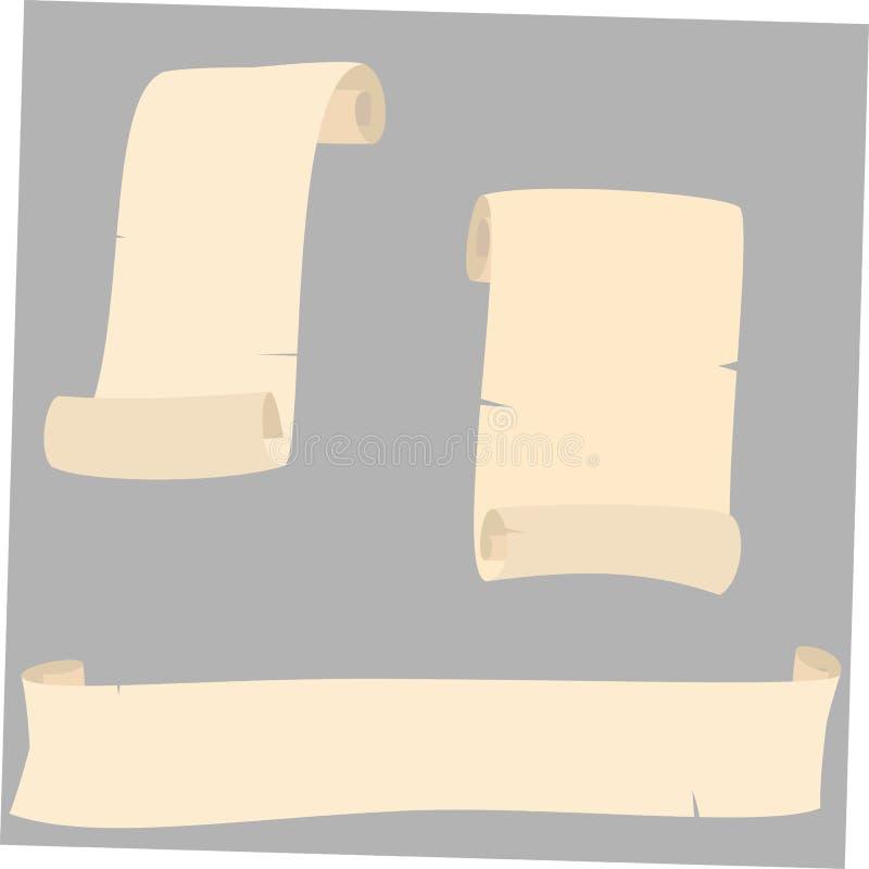 Old yellowed scrolls royalty free illustration