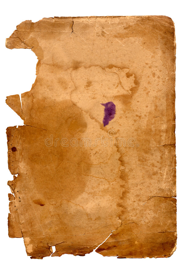 Download Old Yellowed Sheet Of Paper Stock Image - Image: 3880919