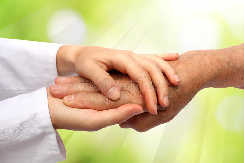 Download Old And Young Hand, Nurse Doctor Stock Photo - Image: 17993110