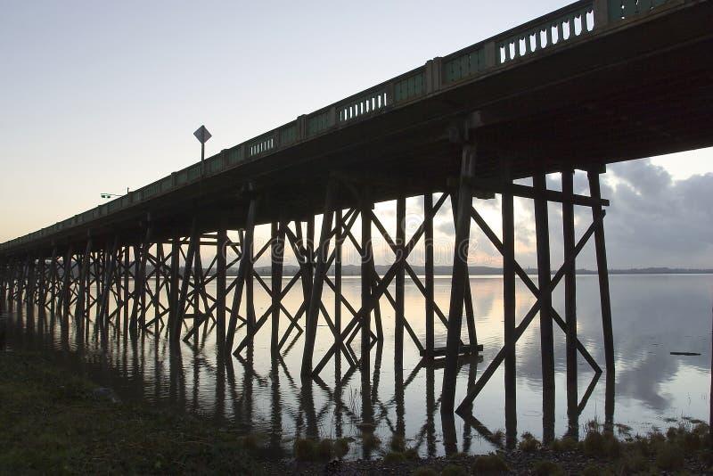 Old Youngs Bay Bridge stock photo