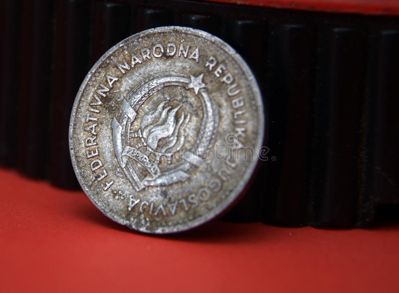Old yugoslavia dinar. Picture of a Old yugoslavia dinar royalty free stock image