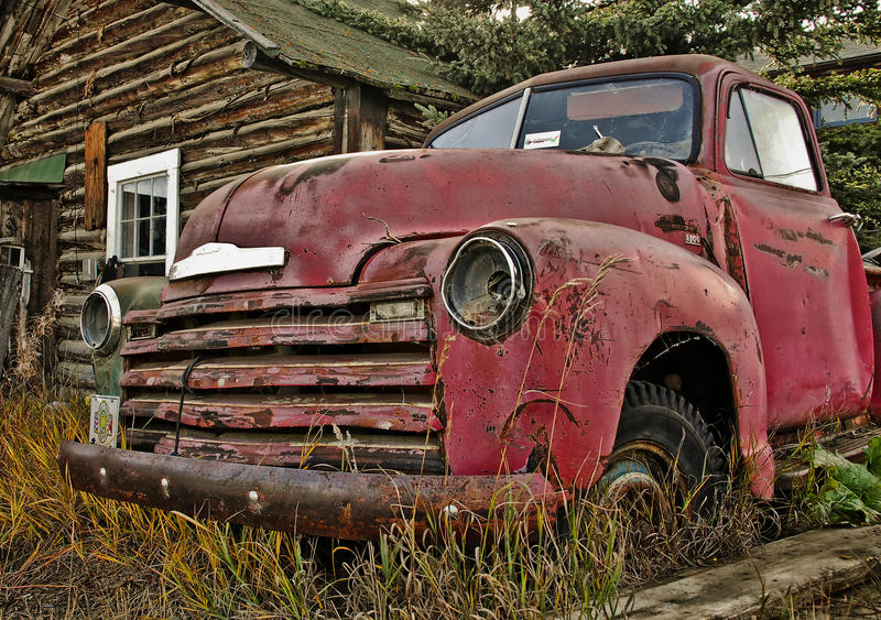 Old Yukon Truck royalty free stock images