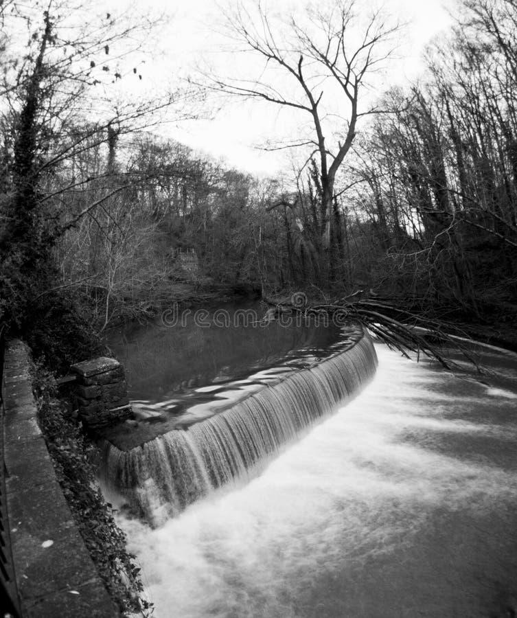 Oldburyhof waterkering stock afbeelding