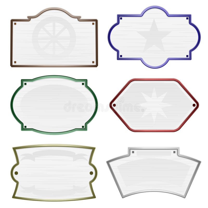 Download Olde time signs stock vector. Illustration of display - 15210987