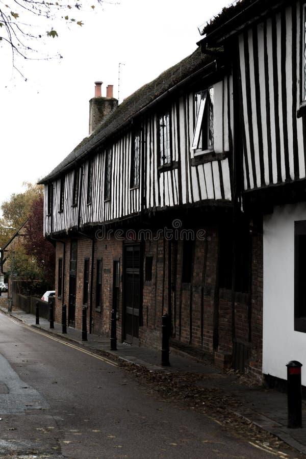 Olde Tudor stylu Angielscy budynki obraz stock