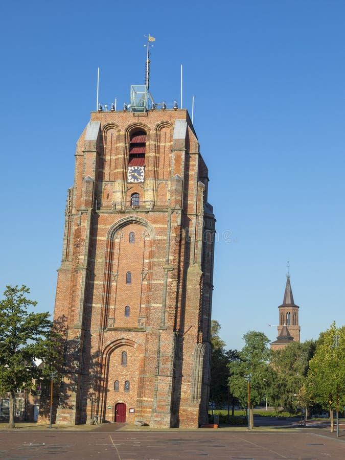Oldehove, der lehnende Turm von Leeuwarden stockfotos