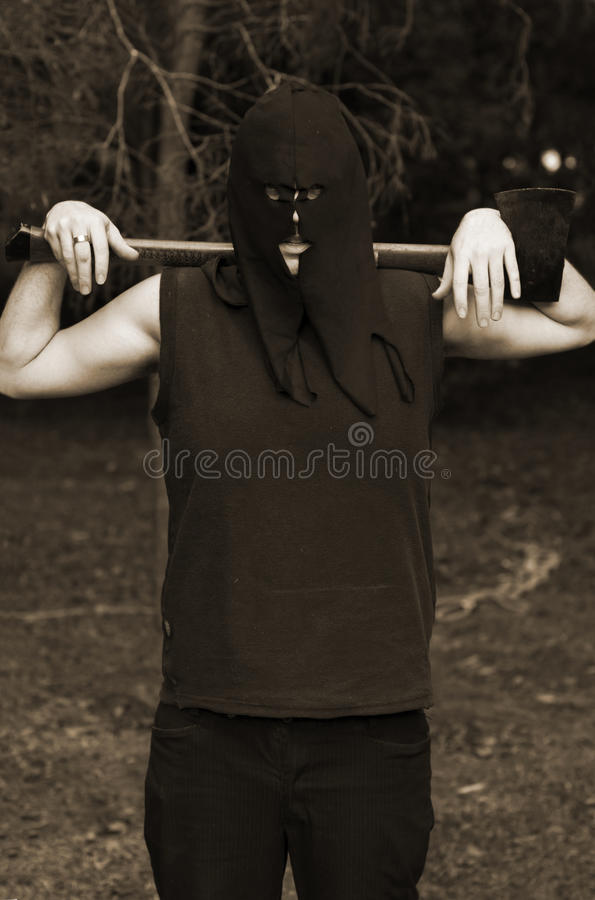 Download Olden Day Axe Man Royalty Free Stock Photo - Image: 15401445