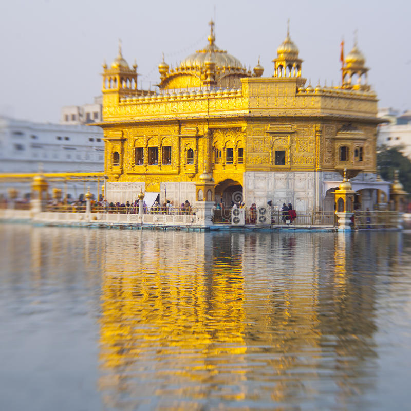 Olden Temple, the holiest Sikh gurdwara. In the world stock images