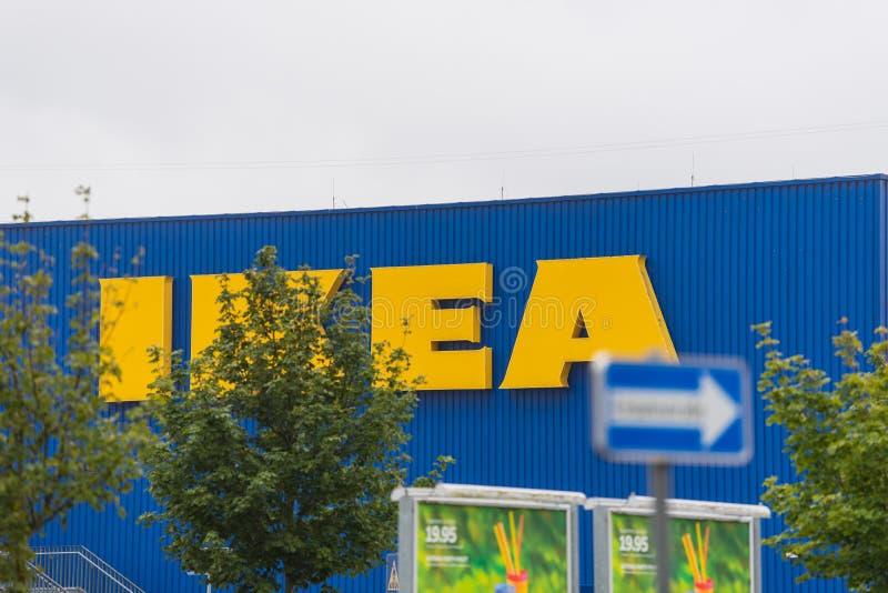 Oldenbourg, basse-saxe, Allemagne - 13 juillet 2019 magasin d'IKEA IKEA est le plus grand détaillant des meubles du monde, fondé  image libre de droits