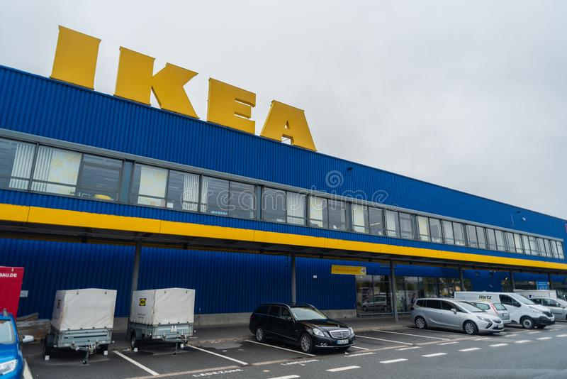 Oldenburg, Lower Saxony, Germany - July 13, 2019 IKEA Store. IKEA is the world`s largest furniture retailer, founded in Sweden - stock photo