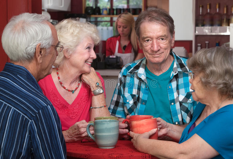 Older Adults in Conversation stock image