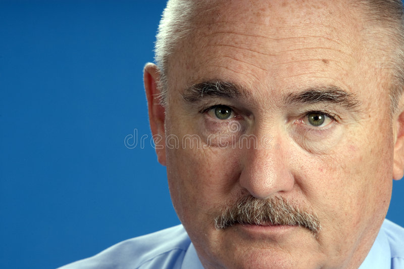 Older businessman in close up royalty free stock images